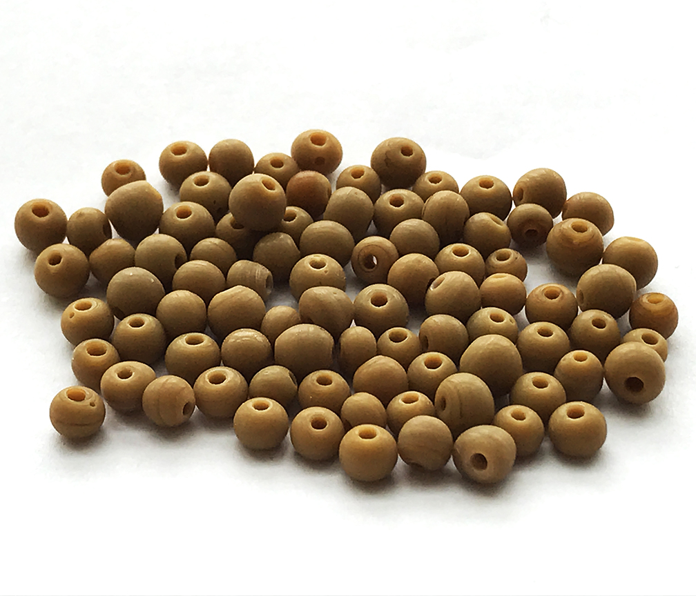 Size 6 Seed Beads Peanut Butter 3 Tubes