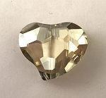Chinese Crystal Curved Heart, 20x22mm - Champagne Luster - 1 qty.