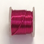 Artistic Wire, 22 Gauge (.64 mm), Silver Plated, Fuchsia, 5 yd (4.5 m), 1 spool