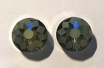 9 x 14mm Hand-cut Chinese Crystals - Khaki Green - 2 qty.
