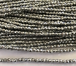 3mm Czech Fire Polish Beads - Full Coat Matte Metallic Silver