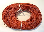 Leather Cord, 1mm - Orange - 1 yard