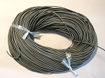 Leather Cord, 1mm - Grey - 1 yard