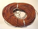 Leather Cord, 1mm - Terracotta - 1 yard