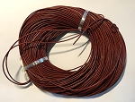 Leather Cord, 1mm - Burgundy - 1 yard