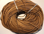 Raw Leather Cord, 3mm - Tan - 1 yard