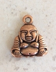 26mm Pewter Buddha Pendant – Antique Copper – 1 pc.