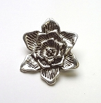 30mm Pewter Flower Pendant