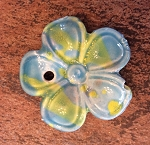 38mm Porcelain Flower Pendant - Aqua - 1 qty.