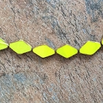 13 x 19mm Czech Glass Table-cut – Chartreuse with Travertine - 10 qty.