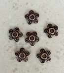 10mm Antique Copper-plated Floral Bead Cap – 6 qty.