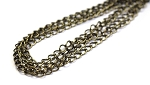 4 x 5mm Chain - Antique Brass - 3 ft. qty.