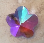 28mm Chinese Crystal Flower – Ultra Violet AB - 1 qty.