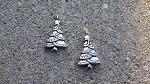 17 x 29mm Pewter Tree Charm - Antique Silver - 2 qty.