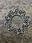 42mm Floral Ring - Antique Silver - 1 qty.