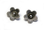 13mm Pewter Flower Pendant - Antique Silver - 2 qty.