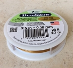 .015 in. Beadalon Stringing Wire – Satin Gold – 20 feet – 1 pc.