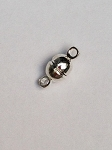 5  x 11mm Brass Silver Plate Magnetic Clasp - 1 qty.