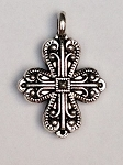 18 x  26mm Pewter Cross - Antique Silver - 1 qty.