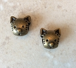 12mm Large-hole Brass Cat – 2 qty.