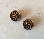 10mm Large-hole Yin-Yang – Antique Copper – 2 qty.