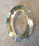 24 x 33mm Chinese Cut Crystal Oval – Lemon Quartz  - 1 qty.