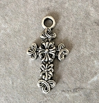 17 x 31mm Pewter Cross Pendant – Antique Silver – 1 qty.