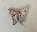 28mm Thai Hill Tribe-style Pewter Butterfly –    Antique Silver Plated