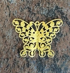 30-40mm Brass Stamping - Butterfly - 1 pc.