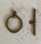 14.5 x 24.5mm Toggle Clasp – Antique Brass – 1 pc.