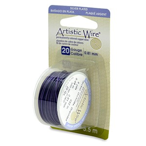 Artistic wire 20 gauge 81 mm silver plated orchid 6 yd 55 m keyboard keysfo Image collections