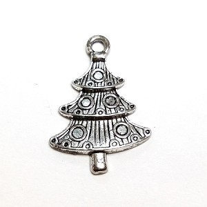 14 x 25mm pewter christmas tree antique silver 1 qty - Antique Silver Christmas Decorations