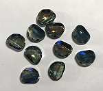 14 x 18mm Chinese Crystal Focal Bead - Blue Iris - 1 qty.