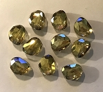 14 x 18mm Chinese Crystal Focal Bead - Champagne Luster - 1 qty.