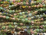 Apprx. 8mm Handmade Chinese Lampwork Rounds – Floral - Color Varies – 3 pcs