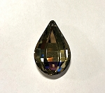 24 x 38mm Chinese Crystal Faceted Drop Pendant – Champagne Chrome - 1 qty.