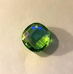 20 x 22mm Chinese Crystal Faceted Diamond Cushion Pendant – Chrysolite AB - 1 qty.
