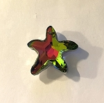 Apprx. 30mm Chinese Crystal Faceted Starfish Pendant – Fuchsia Rainbow - 1 qty.