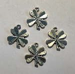 15 x 17 Pewter Shamrock - Antique Silver - 4 qty.