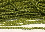 3mm Chinese Cat's Eye Glass Rounds – Peridot – aprx. 125 pcs. per strand, grade A quality