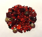 50g Czech Mix w/ Japanese Seed Beads - Ruby & Garnet
