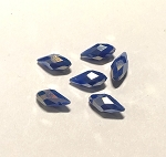 6 x 13mm Chinese Crystal Pointed Briolette – Cobalt Blue AB - 6 qty.