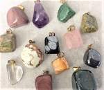 Gemstone Pendant – Size and Color Varies - 1 pc.