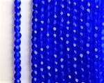 3mm Czech Fire Polish - Matte Cobalt Blue - 50 qty. - BB