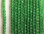 3mm Czech Fire Polish - Matte Emerald Green - 50 qty. - BB