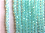3mm Czech Fire Polish - Opaque Light Green - 50 qty. - BB
