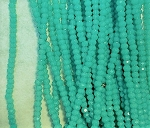 1 x 2mm Chinese Crystal Rondelle – Opaque Turquoise – approx. 120 pcs.