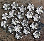 20mm Pewter Flower - Antique Silver Plate - 1 pc.