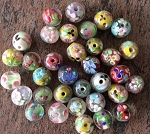 10-12mm Handmade Chinese Lampwork – Color Varies – 2 pcs.