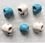 16-18mm Magnesite Skull – White – 1 pc.